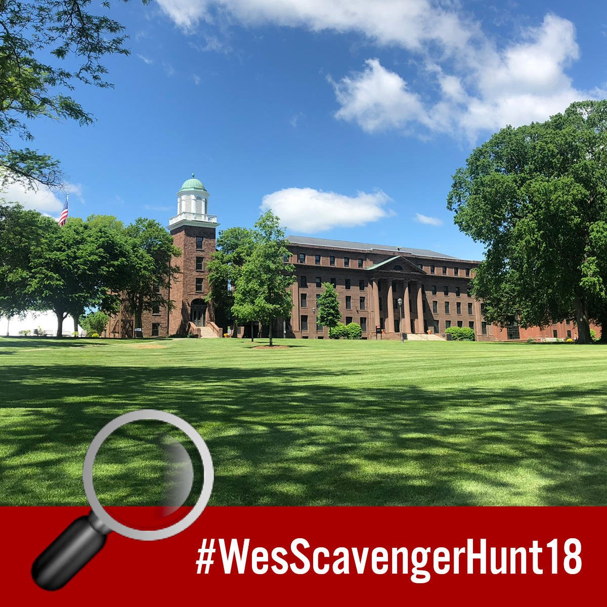 test Twitter Media - 🔍 Clue 8: Take a selfie with a bust of a former university president. Hint: Ssshhh! We're studying! 📚 #WesScavengerHunt18 #NationalScavengerHuntDay    More clues: https://t.co/iwQIXnDb7K https://t.co/zuclswt8N9