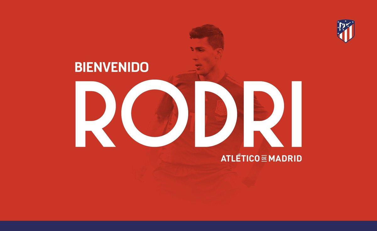 OFFICIEL Le jeune milieu de terrain de 21 ans, Rodri va rejoindre l'Atletico de Madrid cet été.   - FestivalFocus