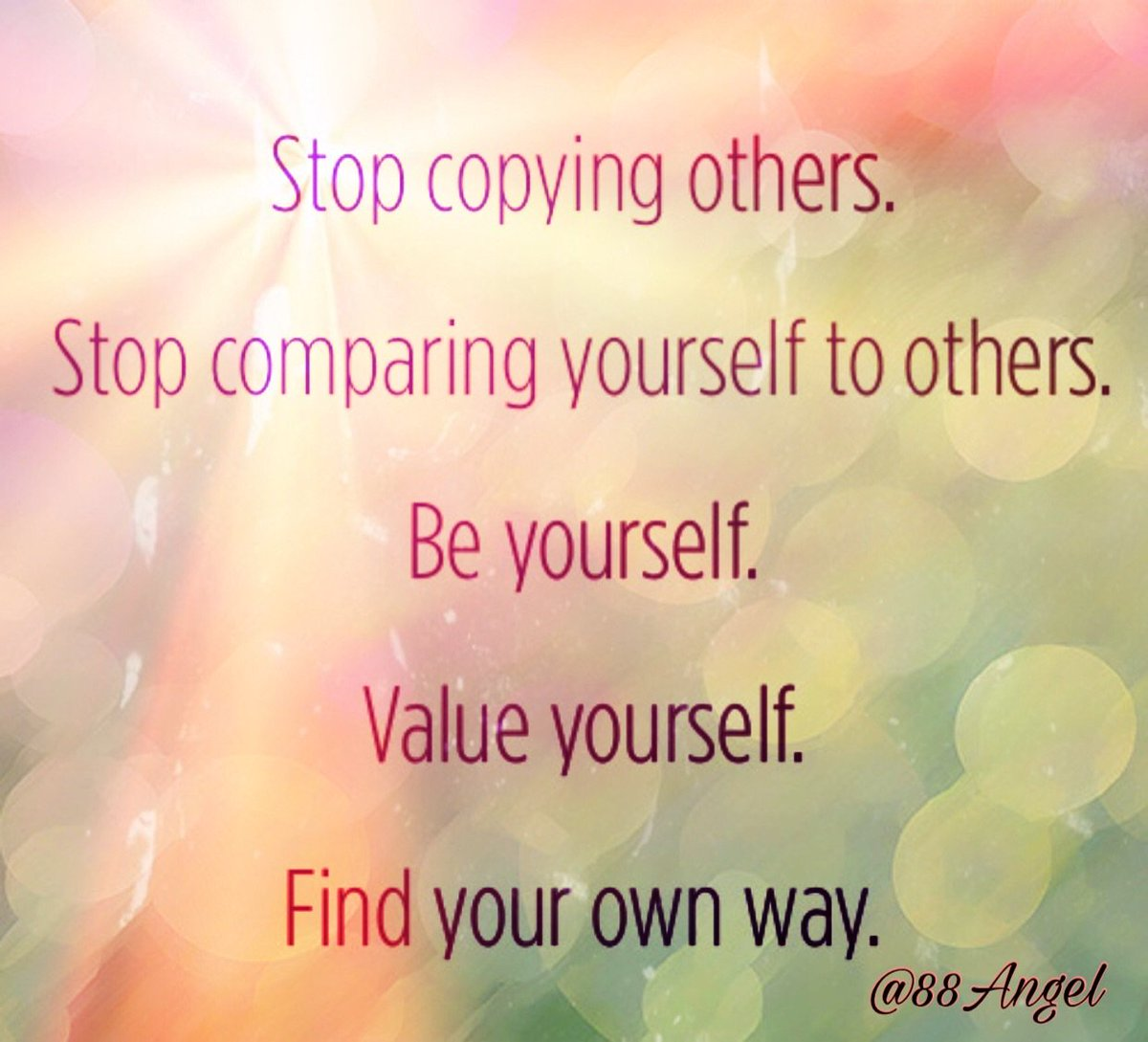 ℂ𝕪𝕕 On Twitter Stop Copying Others Stop Comparing Yourself