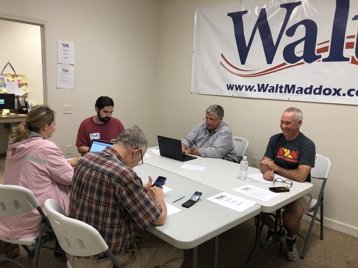 HQ is a buzz!! We're making sure everyone votes @WaltMaddox on June 5th! #believe #alpolitics <br>http://pic.twitter.com/913HGU84Hz