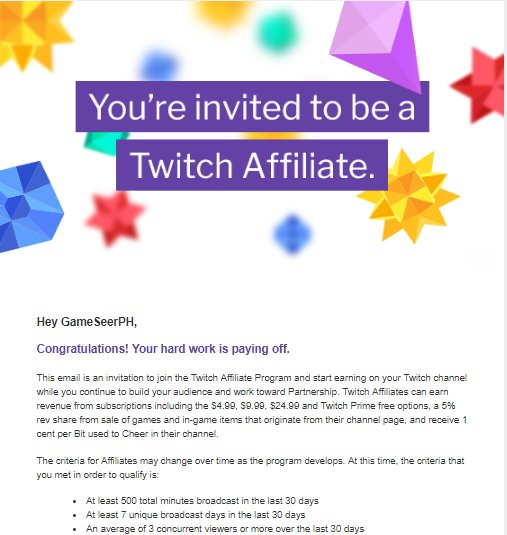 Everyone!! We made! Thank you for all the help!!  All the handwork are now payed off!! Thank you!! #twitchstreamer #SupportSmallStreamers #RoadtoAffiliate #Teamfollowback #followforfollow  #FollowBack #twitch #twitter #twitterfollowers<br>http://pic.twitter.com/aoYCMd7eCJ