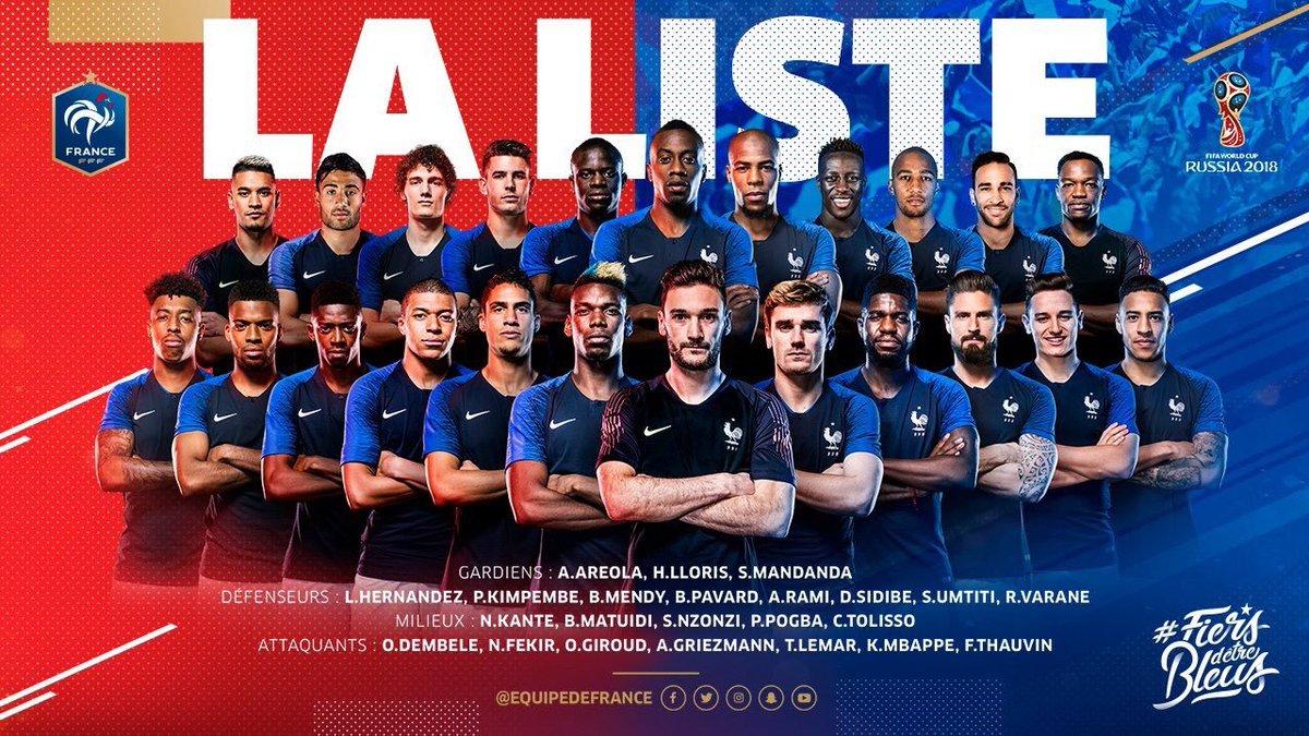 كأس العالم فرنسا قائمة Baaz