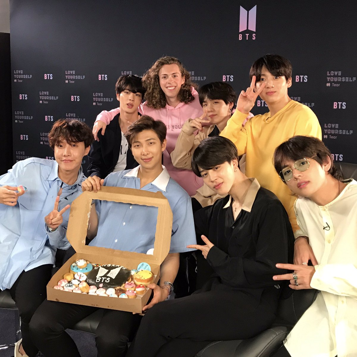 Caught up with my friends @BTS_twt, and I took donuts! My next tweet will be the interview… Stay tuned!