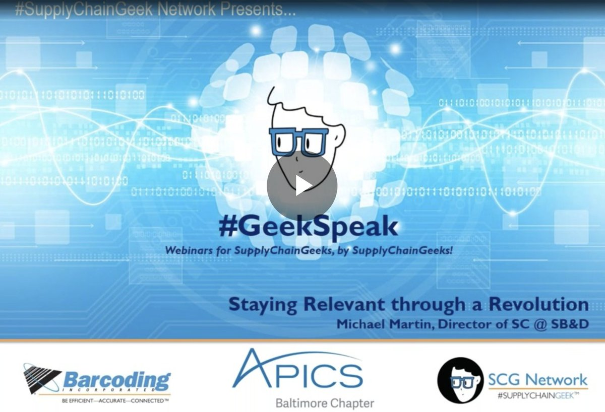 Did you miss our @SupplyChainGeek #webinar last week? Don&#39;t worry, you can still learn how to Stay Relevant Through a [Supply Chain] Revolution by watching the recording in our #SupplyChainGeek Network. If you&#39;re not a member, joining is free and easy!  http:// bit.ly/2k3ItaP  &nbsp;  <br>http://pic.twitter.com/Ct6Fh7kHGq