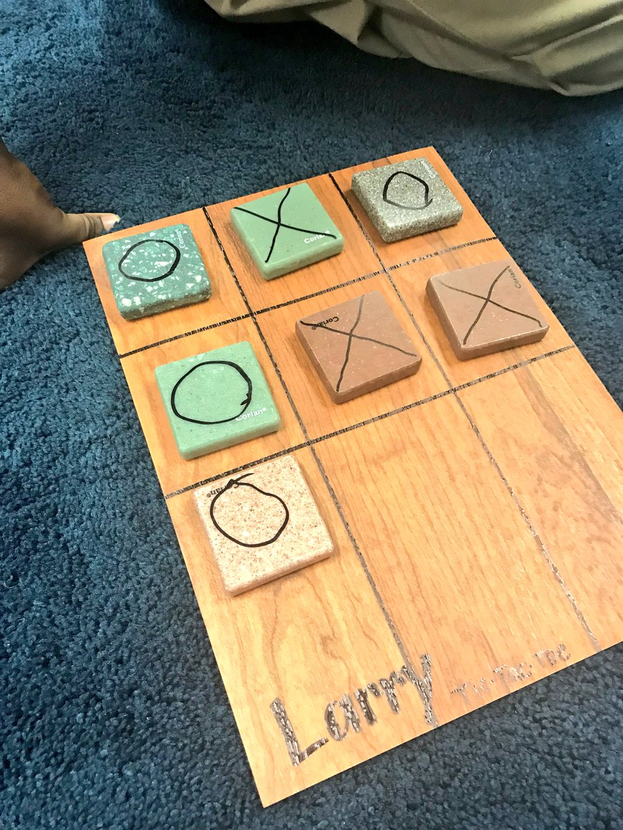 Sending The Kiddies Home With Their Own Tic Tac Toe Game Made Linoleum Sheets And Corian Samples Donated To My Room Very Cool