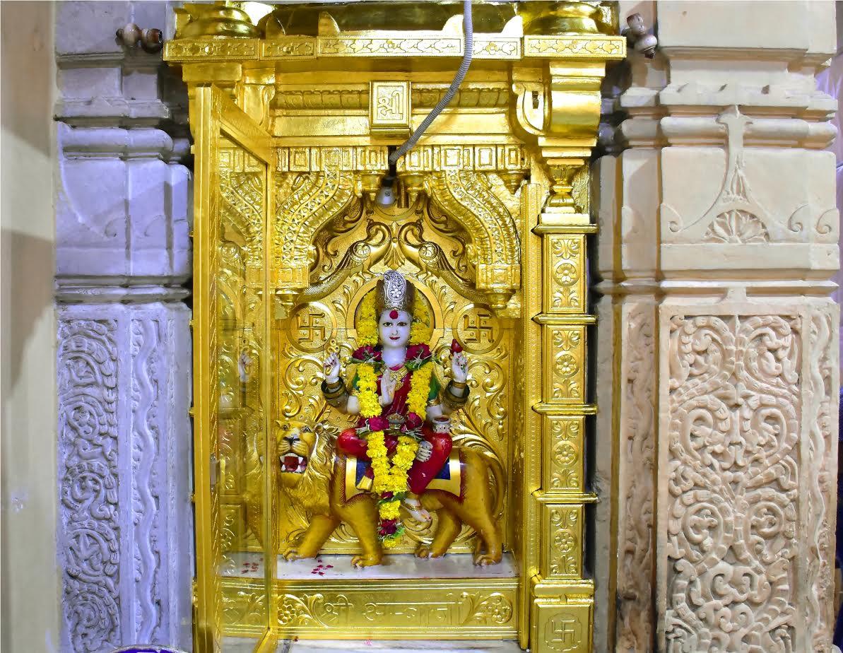 Ambaji Mata gokh of Somnath temple converted golden