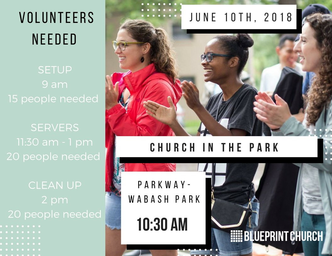 Blueprint church blueprintchurch twitter dont miss church in the park on june 10th 1030 am at parkway wabash park visit httpblueprintchurchannouncements for a list of volunteer malvernweather Images