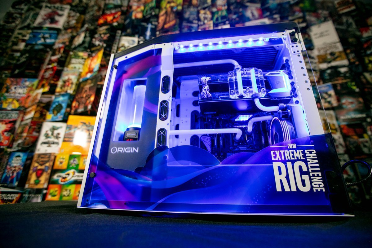 Retweet this for a chance to win ONE of FIVE $10,000 Gaming Rigs!   #IntelRigChallenge @ORIGINPC  Stay tuned for our Extreme Rig Reveal & Overview Video coming soon! https://t.co/nUIYQWM9Ga