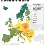 Image for the Tweet beginning: Qualité de l'air : l'UE