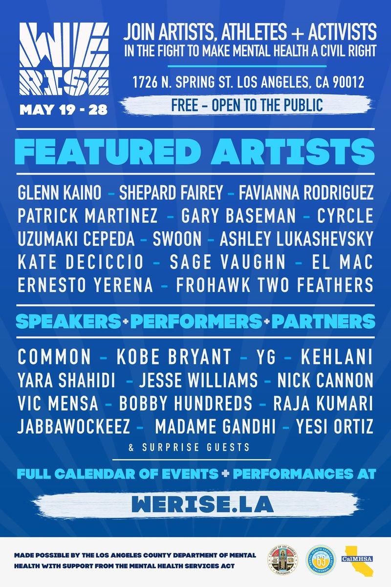 La Mental Health On Twitter The Werisela Pop Up Festival Kicks