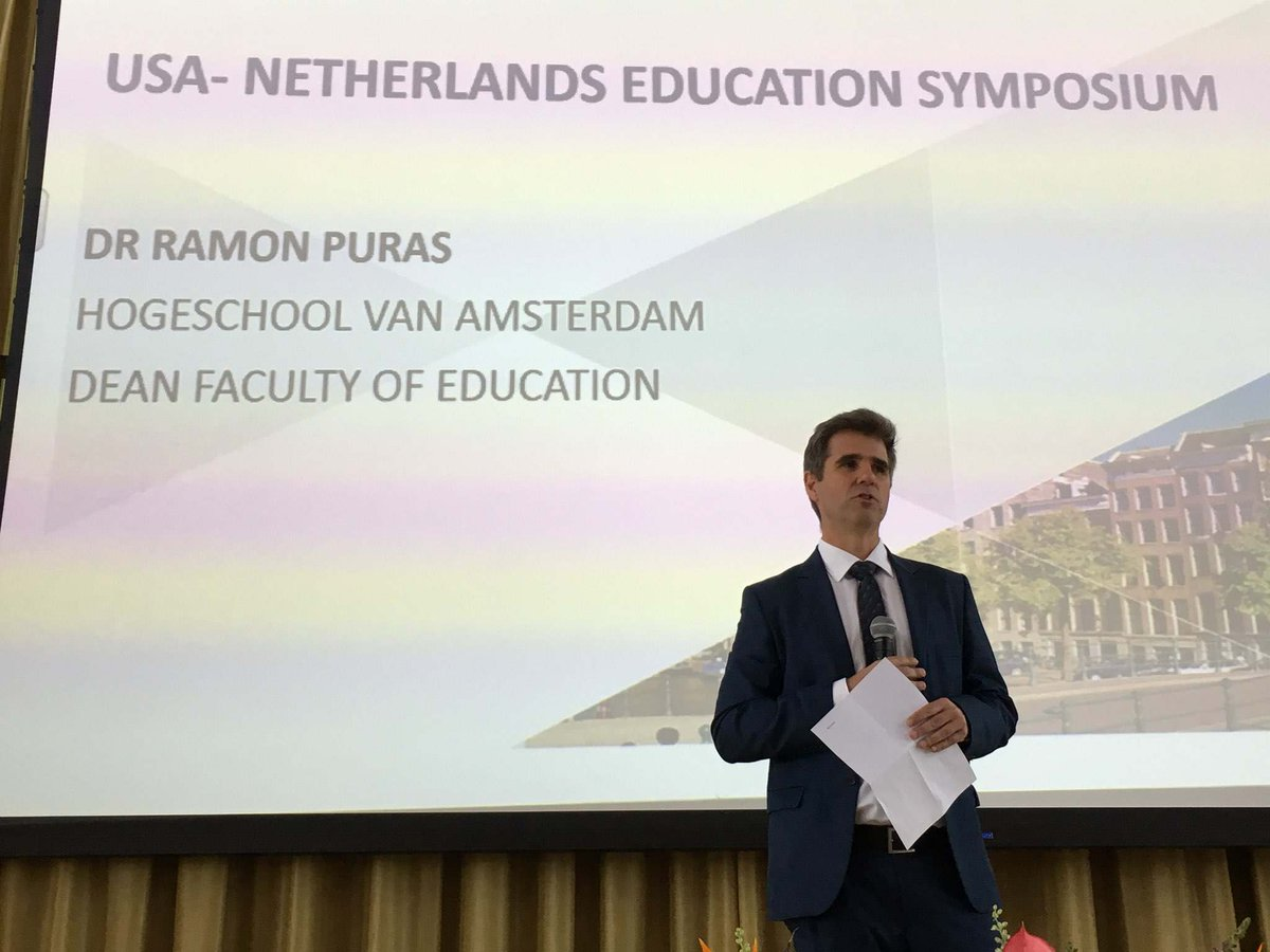 Honored to join @FulbrightNL at today's USA-Netherlands Education Symposium at Amsterdam University of Applied Sciences.  Hats off to Fulbright's English Teaching Assistants (ETAs) for their dedicated work across the Netherlands.  @HvA #studereninamerika