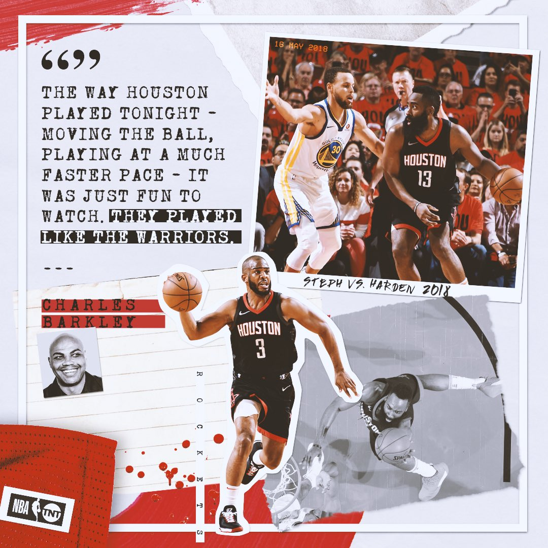 Chuck was a fan of the @HoustonRockets last night. 🚀