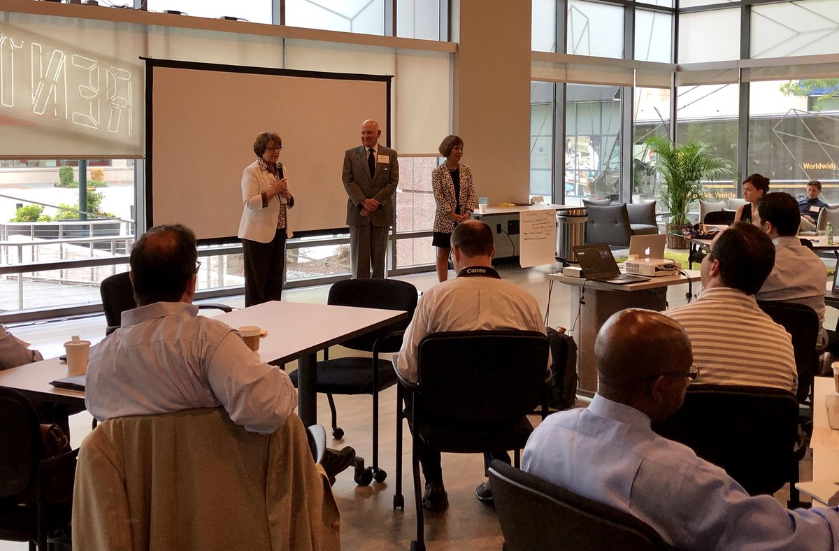 Enjoyed hearing innovative faculty pitches at the 10th annual Faculty Entrepreneurship Workshop hosted by @innovateunc! TY @buckgold1, Keith Sawyer & @JudithCone for laying the foundation for this wonderful program. https://t.co/7Y7BCW4KkS