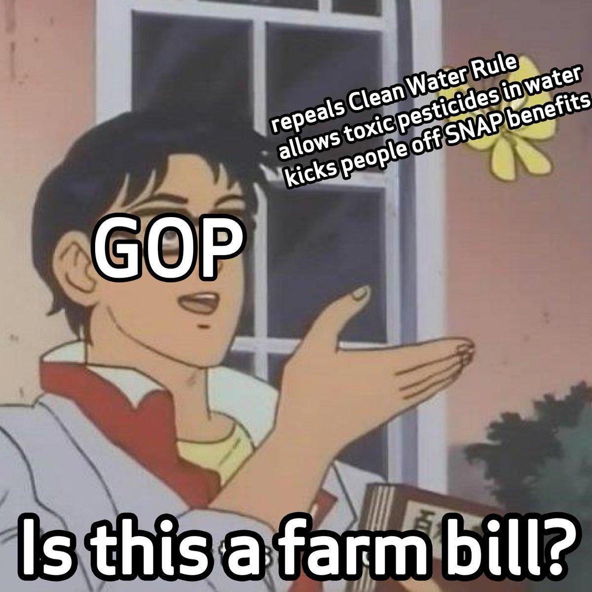 Is this a #FarmBill?  #GOPFarmBill #DirtyWaterRider <br>http://pic.twitter.com/1cNzY0HQlU
