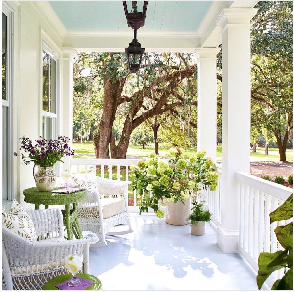 Front porch dreaming. 💕 #NoWhereIdRatherBe (@Southern_Living)
