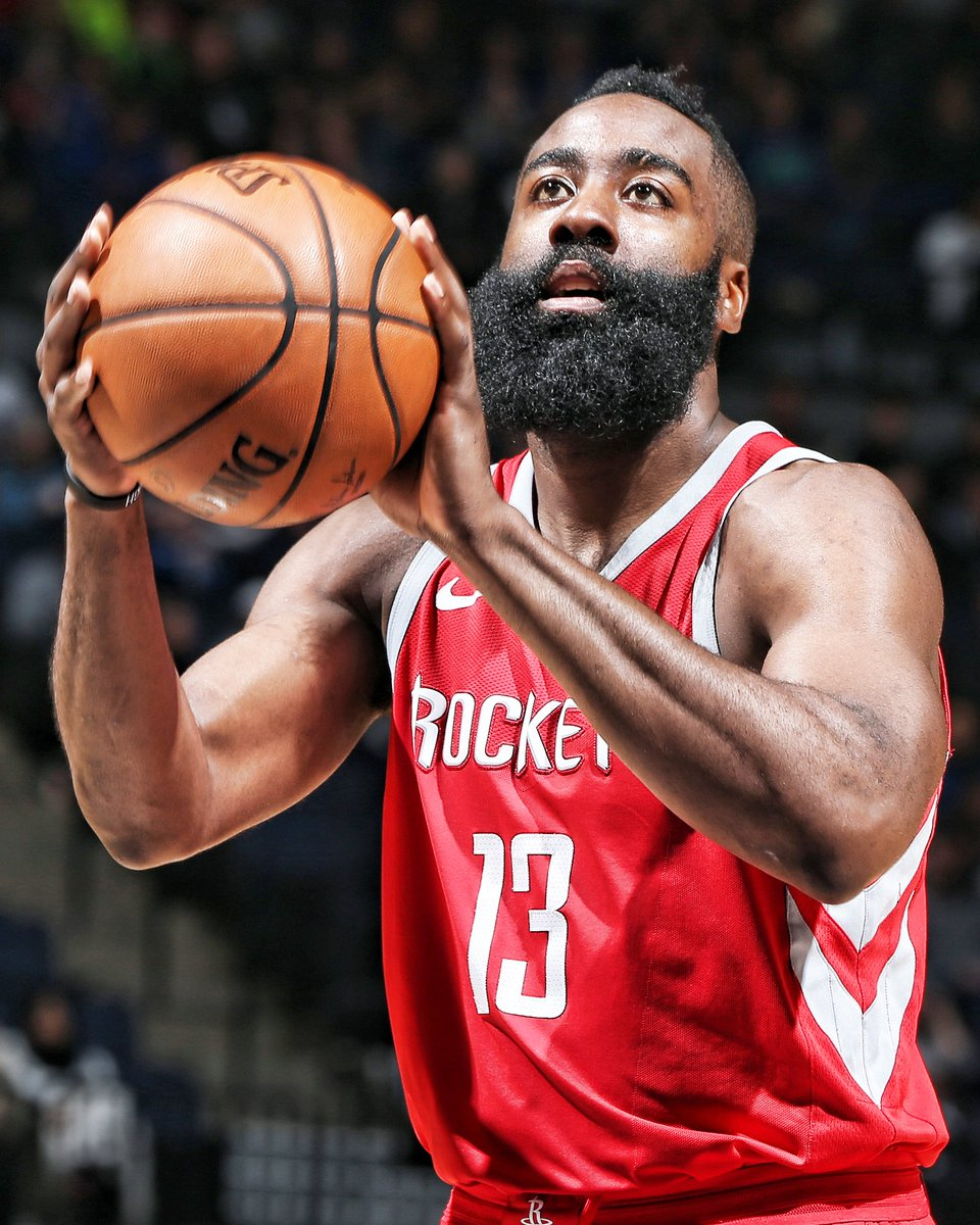 RT to congratulate @JHarden13 on being named a finalist for the 2017-2018 @NBA #MVP! 🚀  #NBAAwards