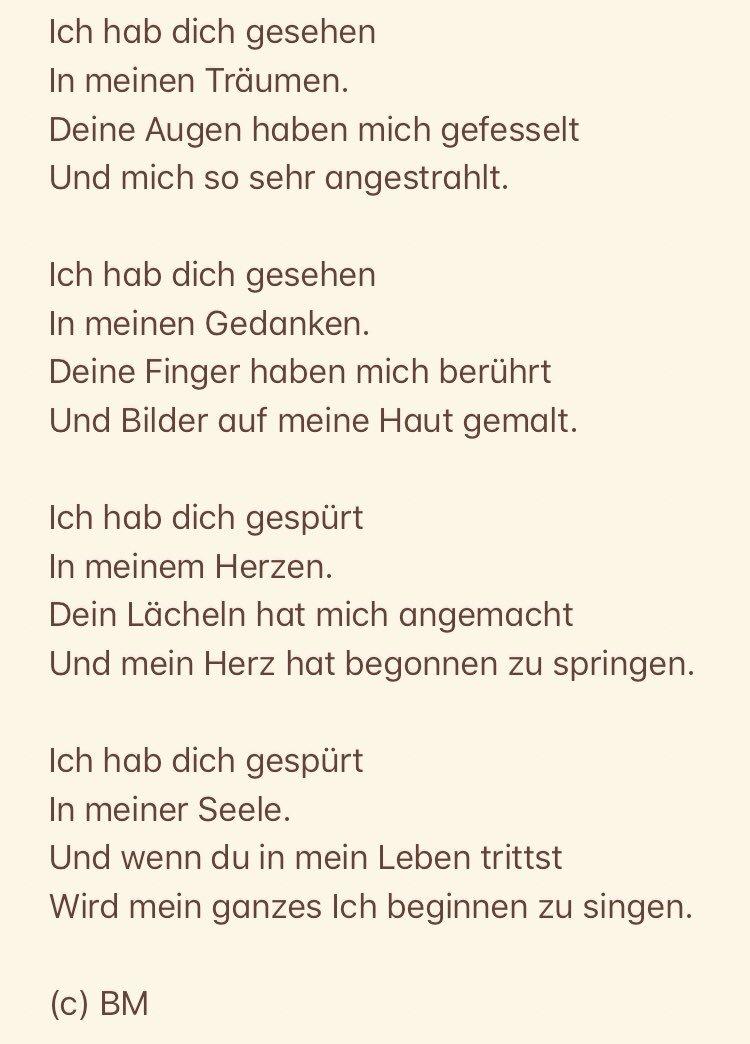 Bettina Münster Auf Twitter Gedicht Liebe