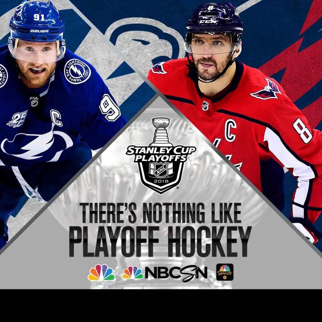 NHL Eastern Conference Finals: Tampa Bay v. DC at 8 ET on @NBCSports. Game on.