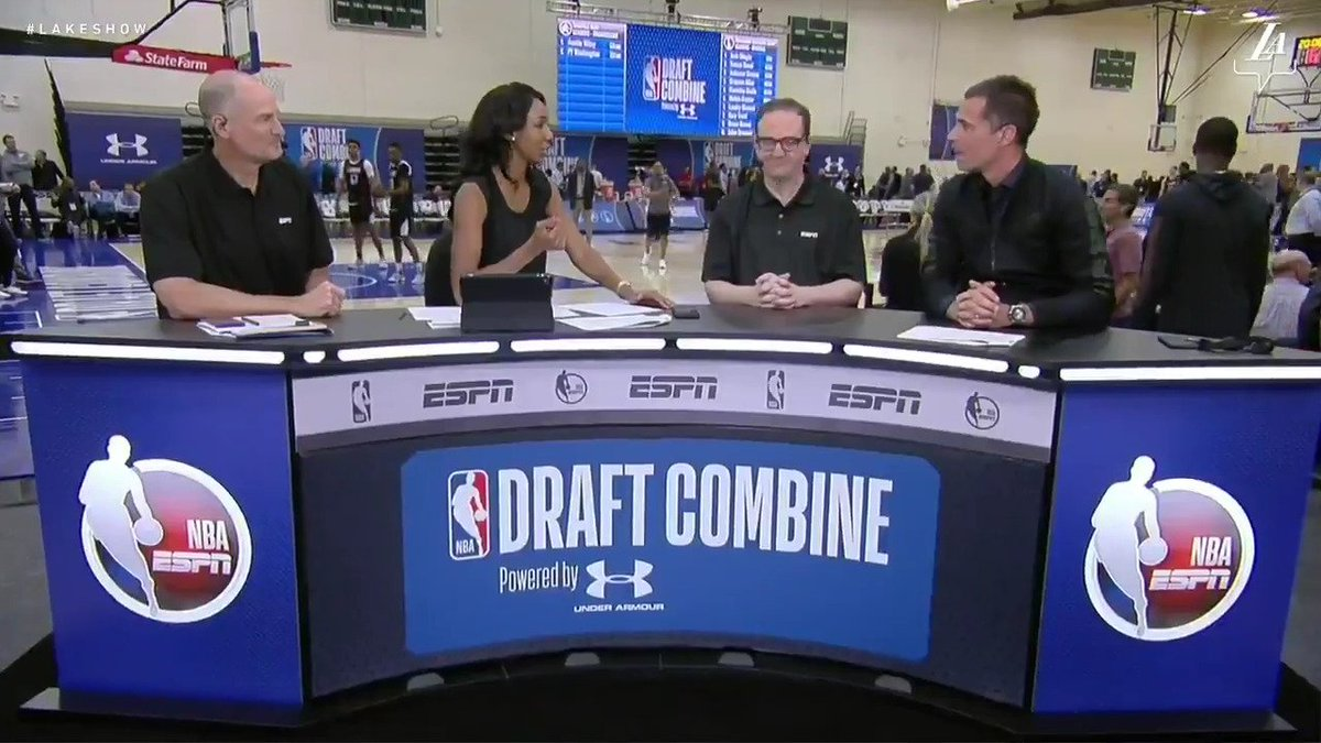 GM Rob Pelinka joins the ESPN crew live from the 2018 Draft Combine in Chicago.