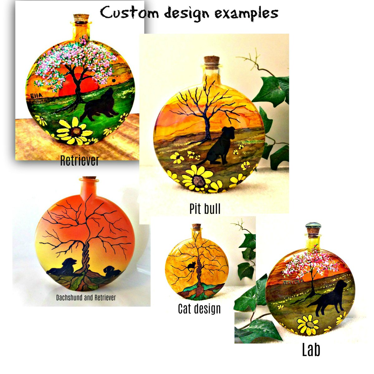 here are some examples of my pet urn designs. Find these and more designs in my etsy shop!  https://www. etsy.com/shop/DawnsINKS pirations &nbsp; …  #dogs #cats #pets #animal #animallover #animallovers #doglovers #DogLove #etsy #LoveATreeDay #TreeofLife #loved #EtsySeller #dawnhawkinsart<br>http://pic.twitter.com/m6dgc85zkm