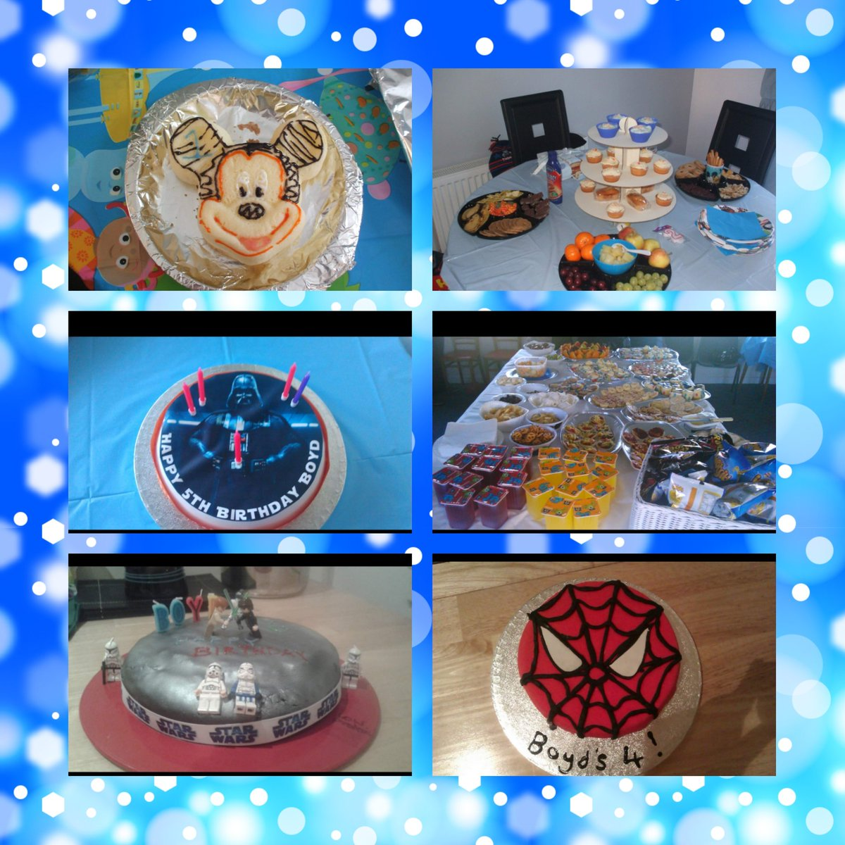 Day 17 Pku Event I actually don&#39;t have any photos from any events we have attended but here&#39;s some photos of our own Pku events Boyds birthdays! Homemade birthday cakes and low protein buffets #pkuawareness #boydsbirthdays #everyoneeatslowprotein #thedaysoffewexchanges<br>http://pic.twitter.com/DVtYvXDHRp