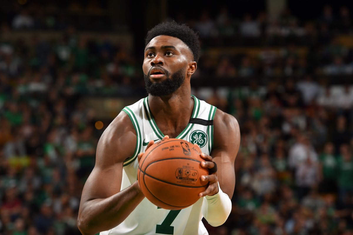 Through two games in this years Eastern Conference Finals, Jaylen Brown is averaging the following for the @celtics:  23 PPG, 52.9 FG%, 46.2 3P%, 7 RPG, 1 SPG  on.nba.com/2wMWhzG