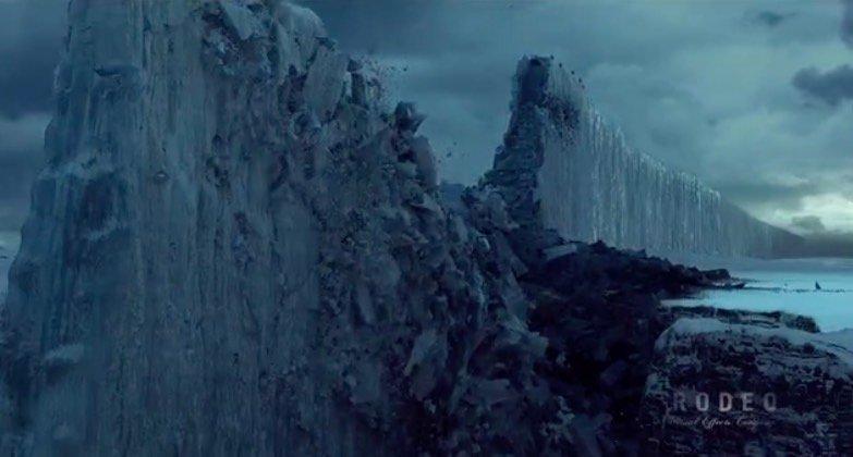 Icy Wall Comes Tumbling Down