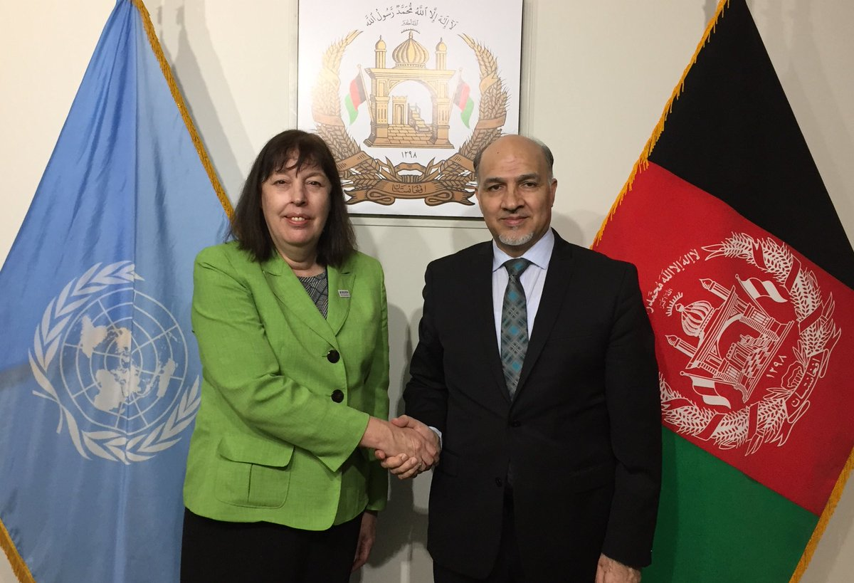 Discussed the devastating impact of the imposed conflict on the #children of #Afghanistan with Special Representative of the UN Secretay-General for Children & Armed Conflict Ms. Virginia Gamba. Informed her of measures taken by the Afg Govt & urged UN to address the root causes.