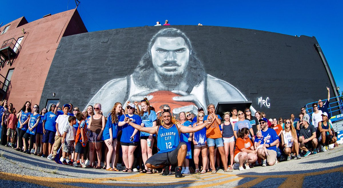 @VisitOKC Our favorite hidden gem to show off…? It's hard to beat the larger than life @RealStevenAdams mural off Sheridan. 🤙 #SeeOKC