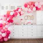 """135 Likes, 2 Comments - Northstar Balloons (@northstarballoons) on Instagram: """"First birthday dream decor! ? •  Gorgeous work @lockette!"""" This fantastic party idea was featured today on https://t.co/2n0L40LUCS! #partyideas #party #birthdayparty #holiday #celebrate #birthday#pa…"""