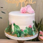 """13 Likes, 2 Comments - Dnichys Cakes (@dnichys) on Instagram: """"Baby Shower cake and cookies ????? Beautiful Mexican cactus, succulents and roses theme baby…"""" This fantastic party idea was featured today on https://t.co/2n0L40LUCS! #partyideas #party #birthdayparty #holiday #ce…"""