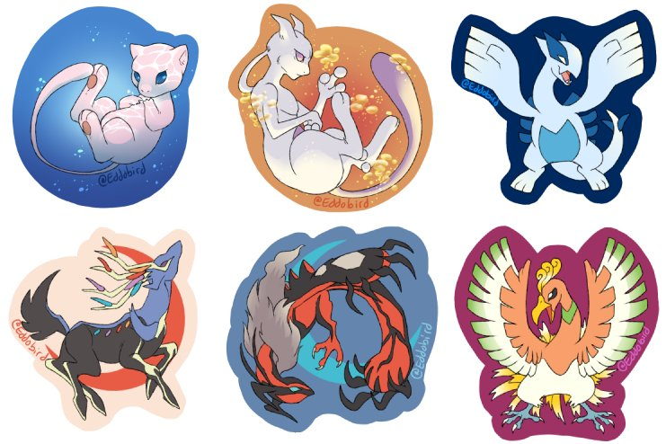 ME TELL YOU Some Designs For Stickers Magnets I Will Be Selling This Summer Pokemon Mew Mewtwo Lugia Xerneas Yveltal Pictwitter EcvOB3OhhL