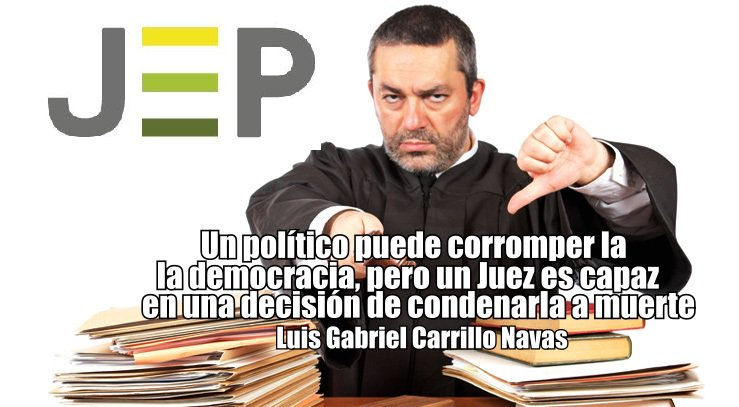 """@JurisdiccPaz @UIA_JEP #MananasBLU """"Un político puede corromper la democracia, pero un juez con una decisión la puede condenar a muerte"""" Luis Gabriel Carrillo Navas @AlvaroUribeVel @IvanDuque @IvanCepedaCast @IvanMarquezFARC @VickyDavilaH @HassNassar @CGurisattiNTN24 @fdbedout @CancinoAbog @Yohana_Ib https://t.co/AQDe1qx4xh"""