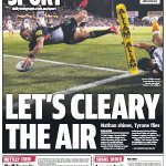 Today's back page... Wonder photo from the great @philthy295  https://t.co/ACNAd9fgkj 👍🏉