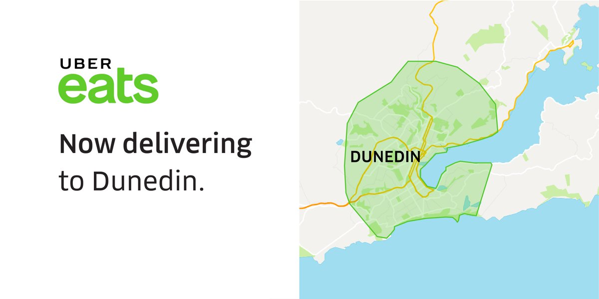 Dunedin, you'll want a bite of this - @ubereats_nz is now live!  Are you in the delivery zone? https://t.co/kh226svB58