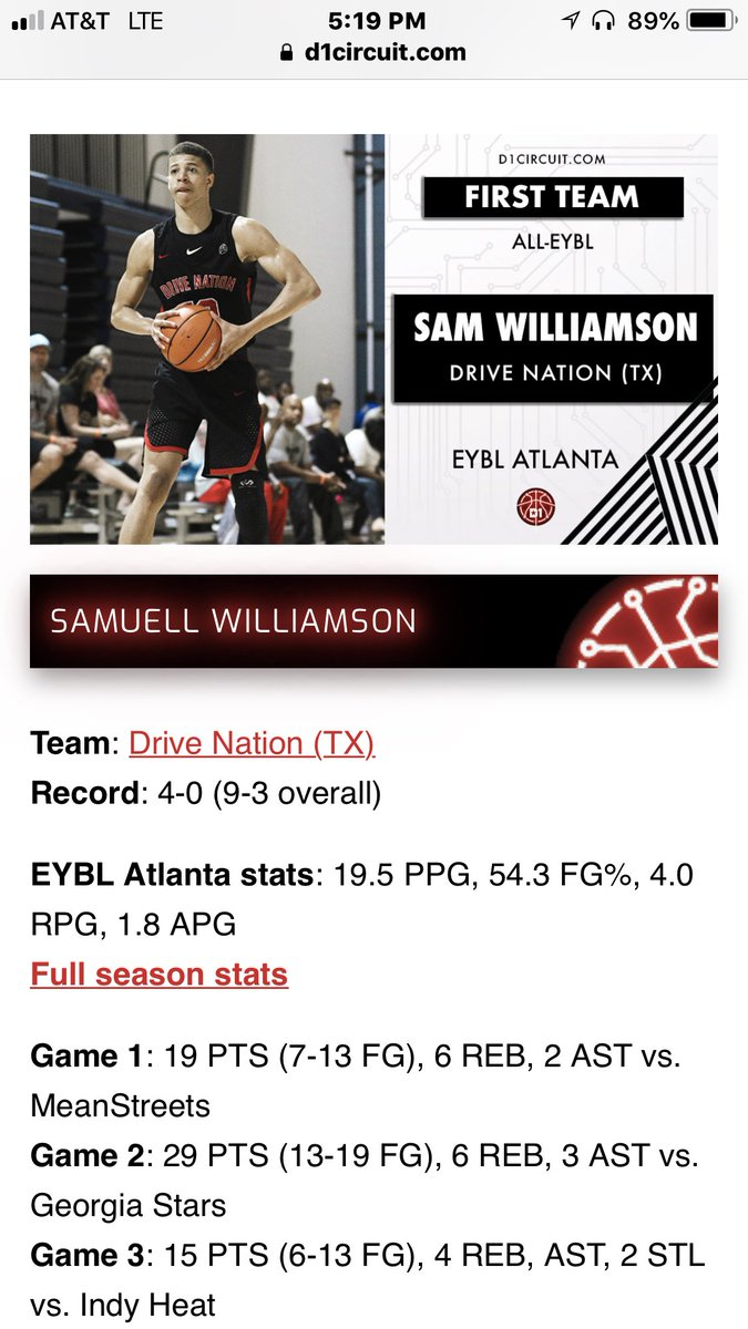 Drive Nation Nike On Twitter Congratulations Sam This Kid Is Game Show Circuit 5 Putting Quite A For His First Year The Eybl Keep Up Good Work Fella