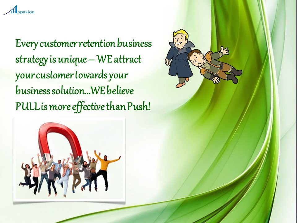 #Pull is highly effective in customer #retension scenario- WE follow OUR #believe for #B2B customer world!<br>http://pic.twitter.com/xqt1rNvM1y