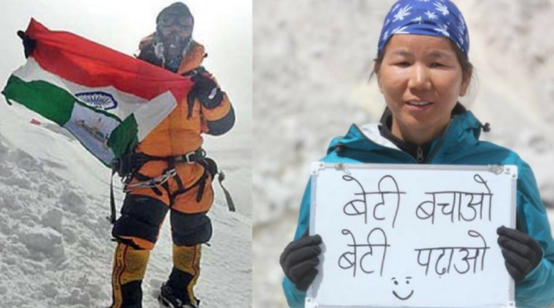 Meet Muri Linggi 40 years old mother of 4 girls from Arunachal Pradesh summit Mt. Everest.A peon in education department,she beat the odds with her grit and dedication. Amazing! #FridayFeeling #FridayMotivation <br>http://pic.twitter.com/4IVZ5cEJXg