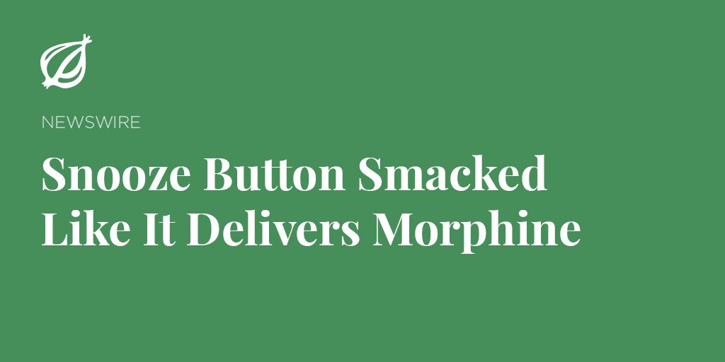 Visit theonion.com to see more from the standard bearer of global journalism.