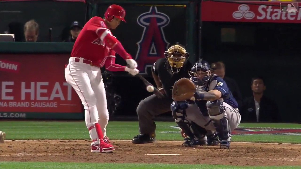 End your night with Ohtani's 6th homer of the year. https://t.co/r4VQNrJ6YB