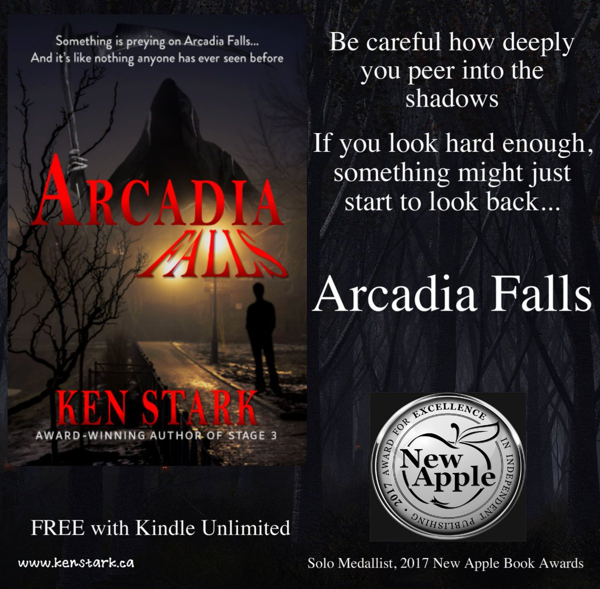 &quot;No one is coming to help. We&#39;re on our own...&quot;   http:// amazon.com/dp/B077VVQVL4  &nbsp;   #horror #mystery #monster #paranormal #thriller #IARTG @NewAppleAwards  #ArcadiaFalls #FREE on #KindleUnlimited<br>http://pic.twitter.com/zJsNfalXUA