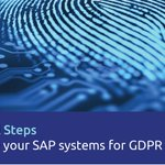 With the #GDPR compliance deadline only 7 days away, why not use our 7 steps to GDPR compliance as a checklist to ensure you have ticked all the boxes. #SAP https://t.co/F4eL9orfay