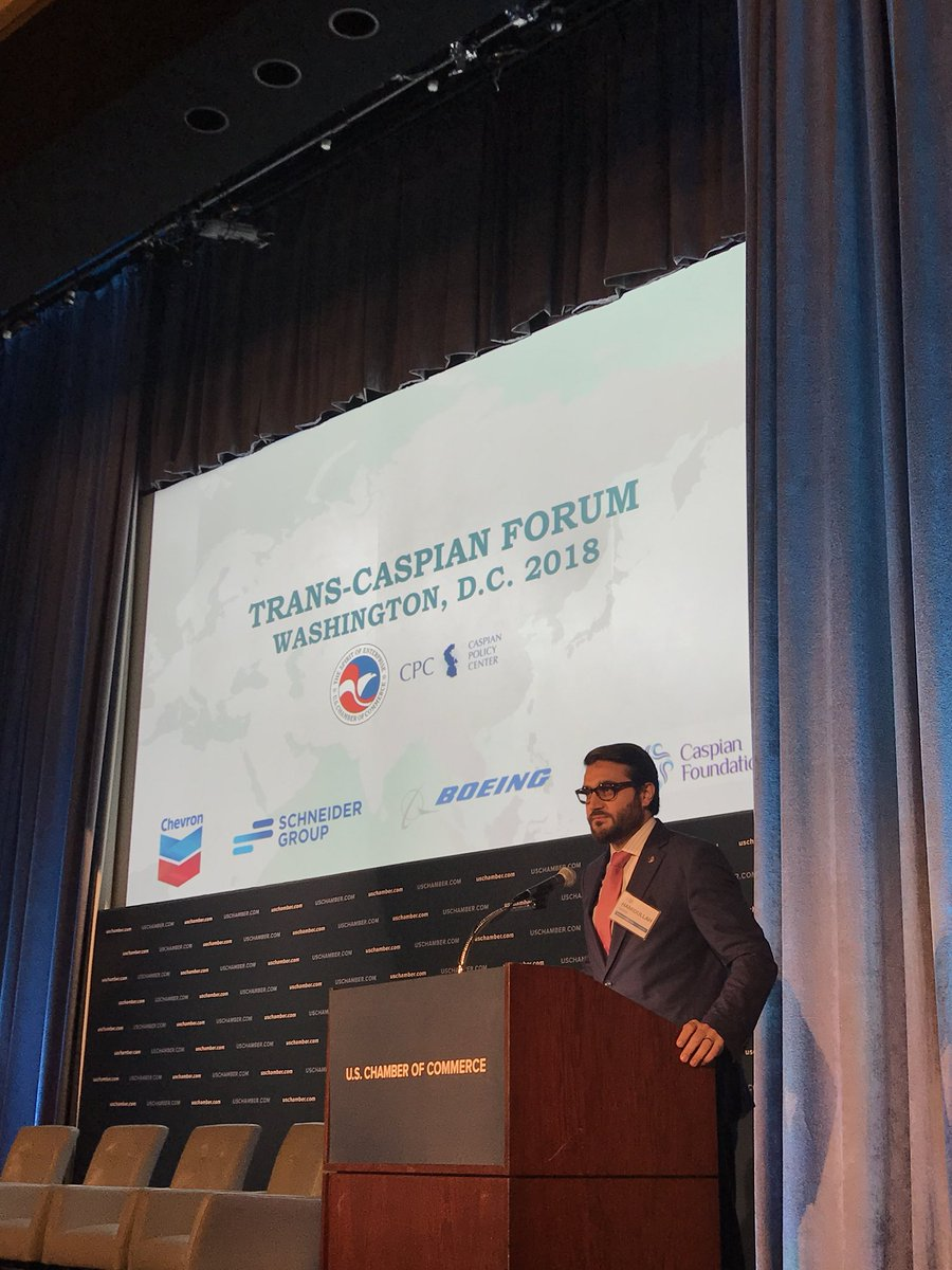 """Amb. @hmohib: """"Our economic & trade relations with Central Asia have been significantly enhanced. We have engaged in 25 new cooperation agreements with #Uzbekistan in areas that will result in broader economic cooperation, trade & transit. And this is just the beginning!""""."""