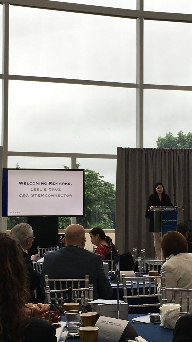 .@STEMconnector CEO Leslie Cruz kicking off the #2018STEMConnectorSummit! Excited to help ensure that youth are interested in STEM careers and to help them believe in themselves through #STEMmentoring. Let's eliminate the belief gap! #MentorIRL
