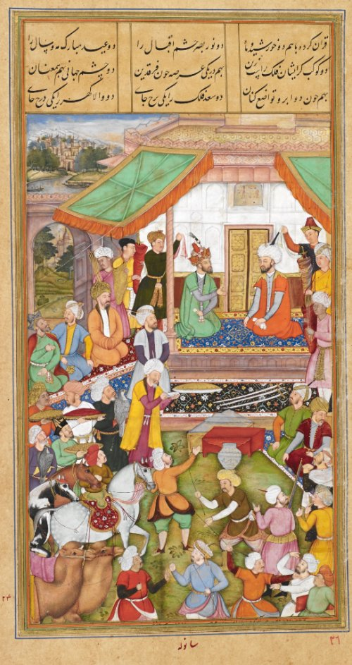 Think the #RoyalWedding sounds lavish? Compare it to the Mughal Emperor's royal visit to Iran in 1544, where he was offered 1,200+ dishes – including marmalades of Mashhad apples and sherbet with lemon syrup and snow. Where were our invites?! https://t.co/QIPjdhUrX4 #BLTreasures
