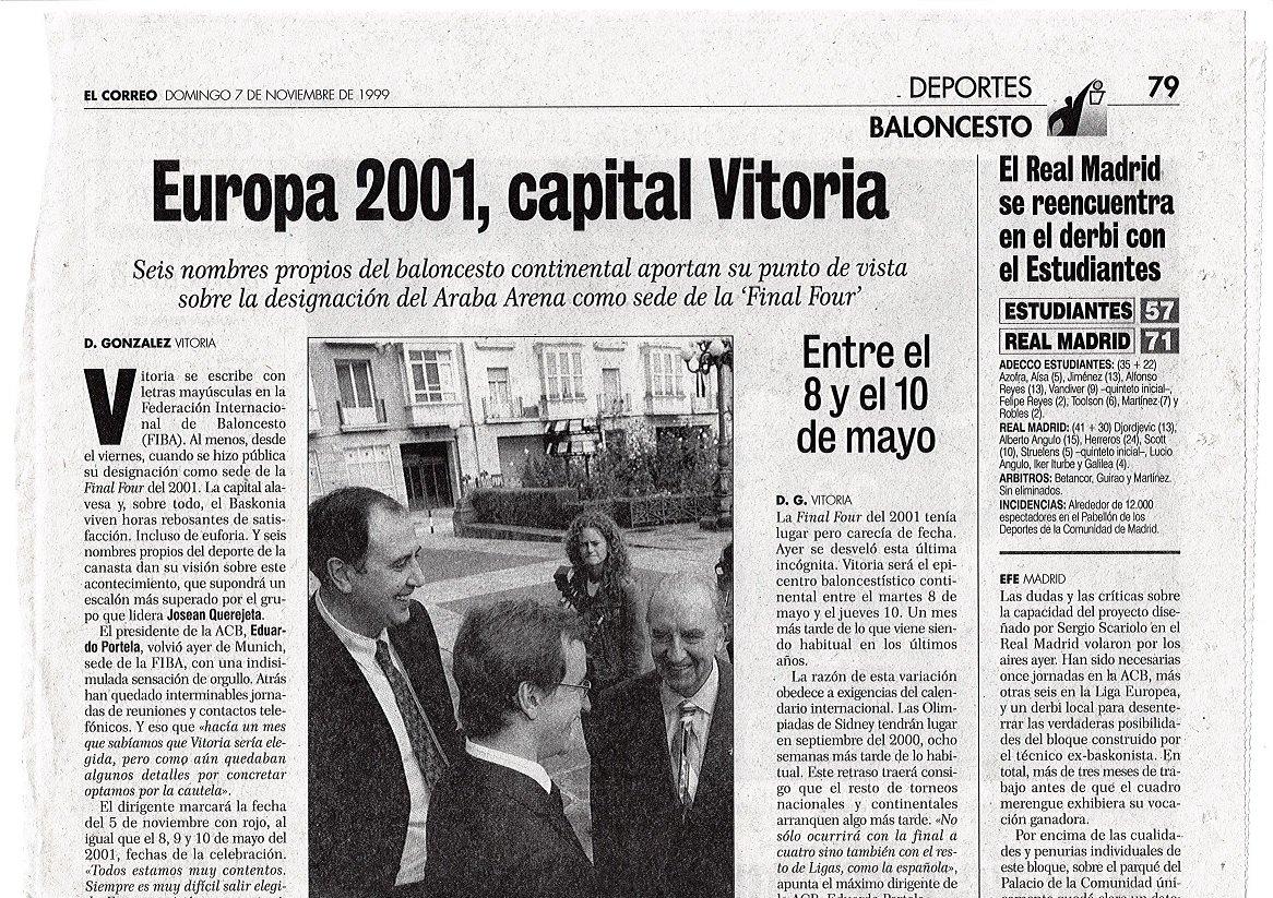 Vitoria-Gasteiz será la sede de la Final Four de la Euroliga de 2019 DdeM95PU0AAsHfH