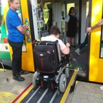 Quality of #rural transport is also about #accessibility for all! The #crossborder Elstertal Railway tested by handicapped people of the Diakonie Auerbach 🚃 Facilities testing, and questionnaires Our #Interreg project will improve bilingual marketing on the railway 🇩🇪🇨🇿