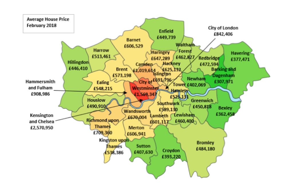 City Am On Twitter Mapped Average House Prices In