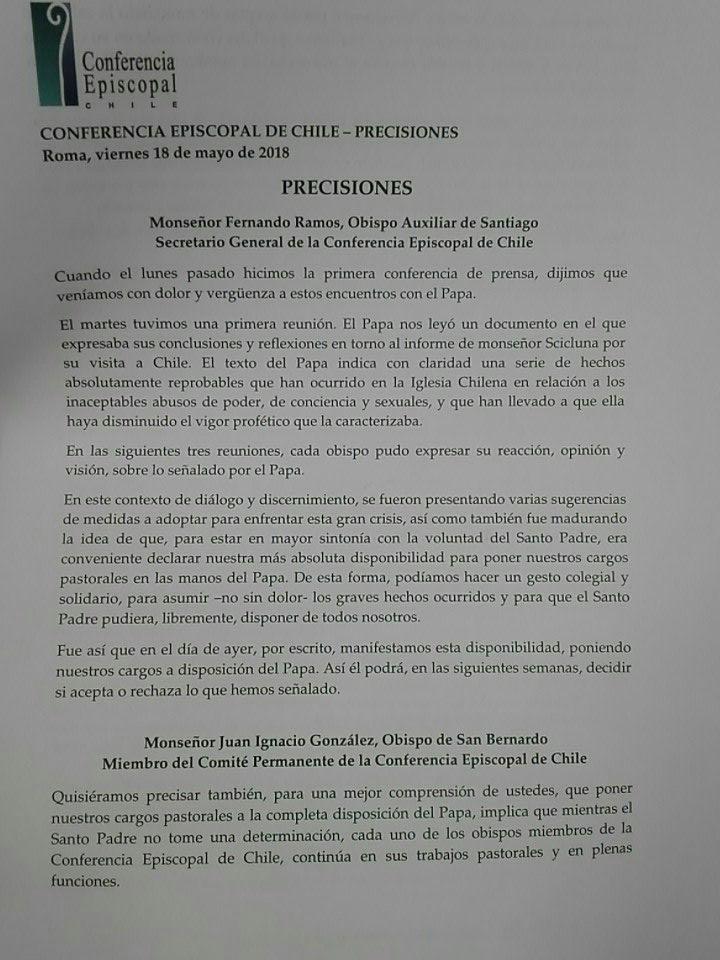 Todos los obispos de Chile presentan su renuncia  DdeUec4VMAA_JKG