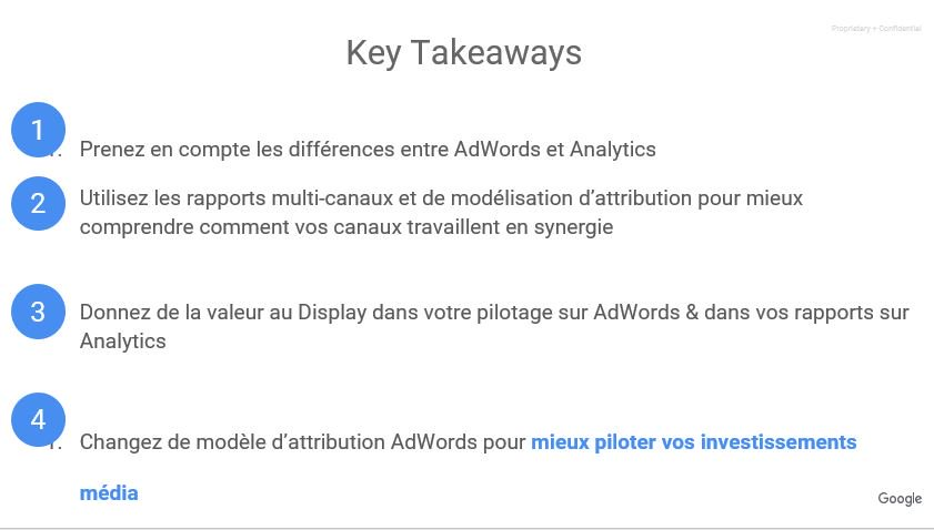 #AttributionNow 4 Key Takeaways pour valoriser le display ! Merci Josselin Milord